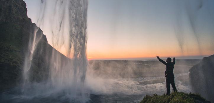 Seljalandsfoss, Island.