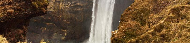 Skogafoss vattenfall. Sydkusten.