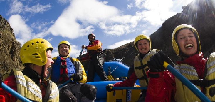 Rafting på elven Hvítá