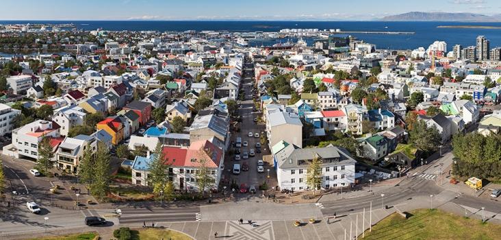 Reykjavík from above