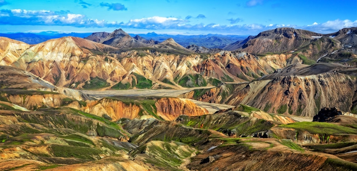 Colourful mountains in Iceland
