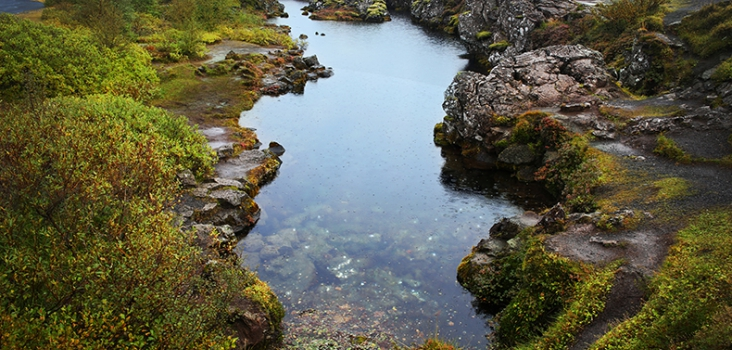 Thingvellir nationalpark. Island. Gyllene Cirkeln.